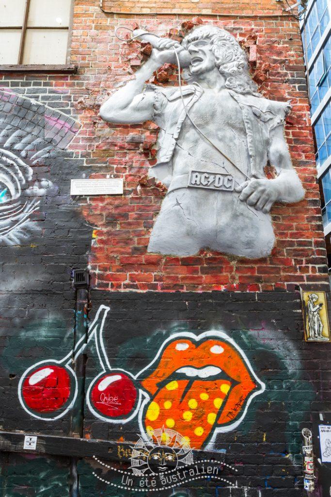 un été australien australie voyage melbourne victoria street art tag acdc