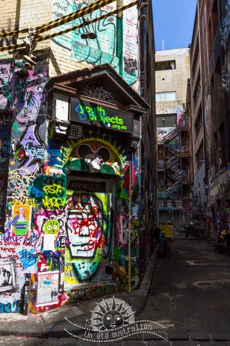 un été australien australie voyage melbourne victoria street art tag
